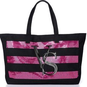Victoria's Secret sequin tote bag